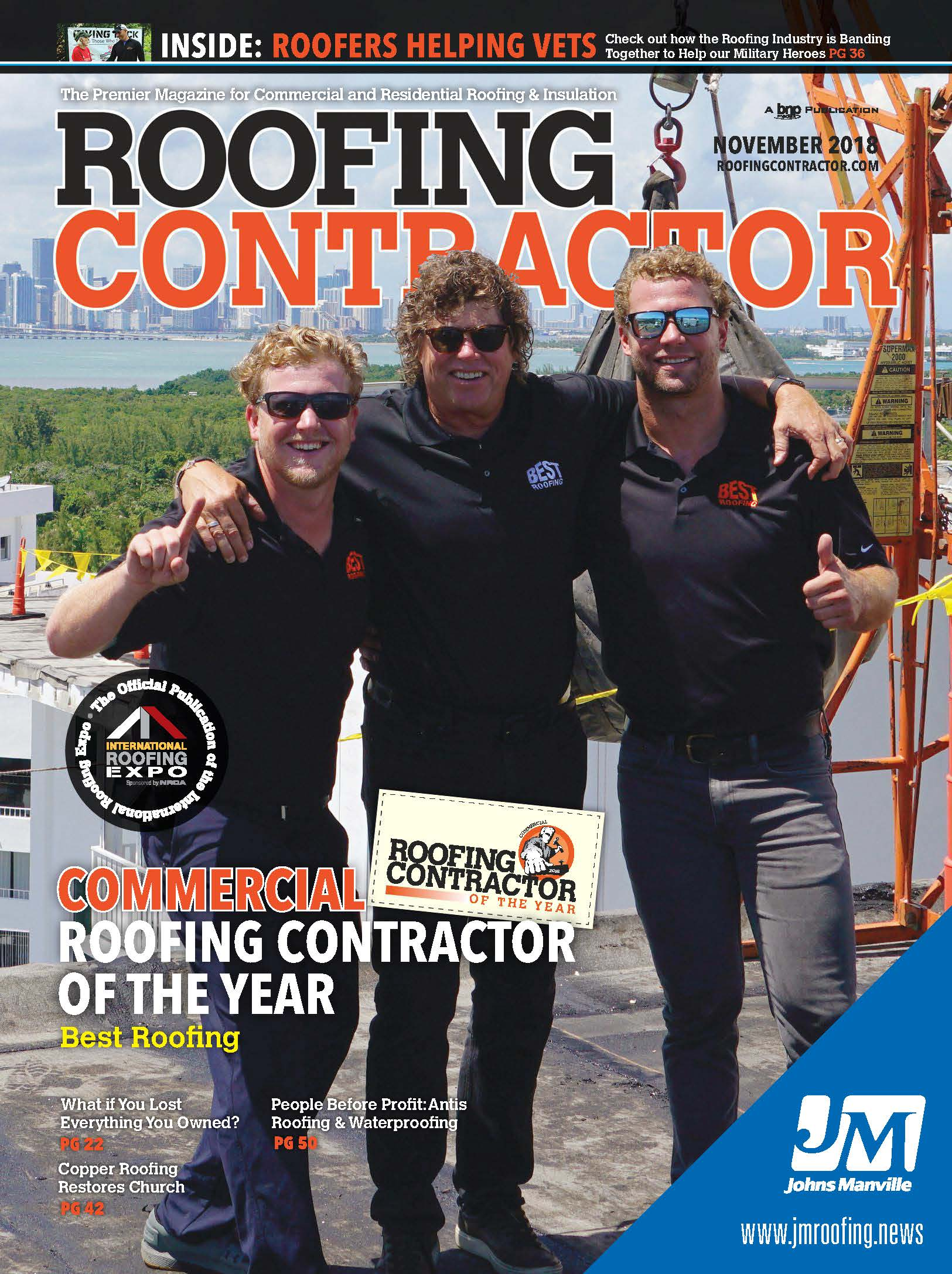 Roofing Contractor Front Cover