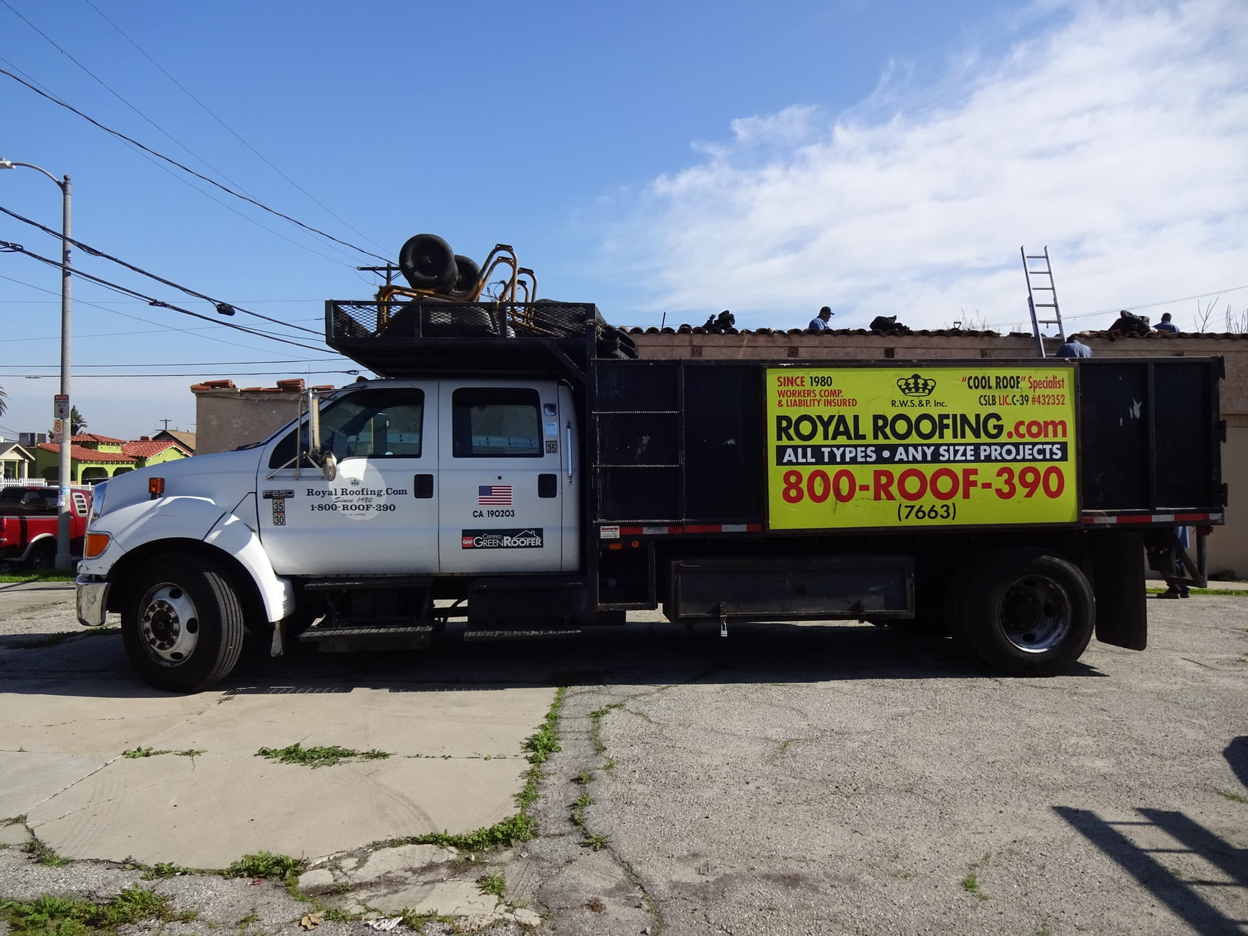 Royal Roofing Crew Truck
