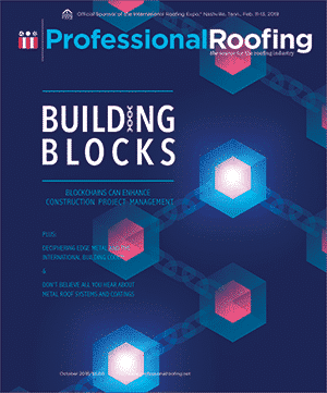 Professional Roofing Magazine Cover